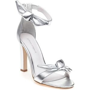 Anthro Jeffrey Campbell 'Minari' Silver Bow Heels